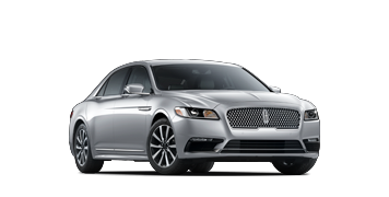 The 2020 Lincoln Continental standard model is shown in the Silver Radiance exterior color